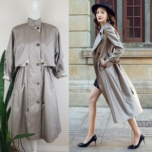 VTG 80's Fleet Street Trench Coat
